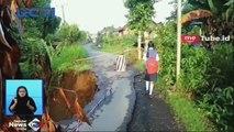 Jalan Penghubung di Banjarnegara Ambles Sepanjang 20 Meter