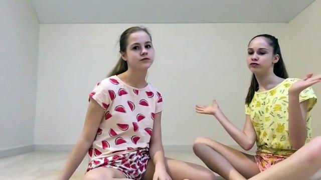 Yoga challenge - Flexible gymnastics girl