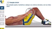 Exercícios de abdominais: Abdominal com descanso das mãos