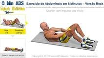 Exercício de Abdominais em 8 Minutos - Versão Rock