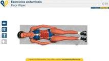 Exercicios tanquinho barriga, Exercicio fisico para musculação abdominais - Floor Wiper