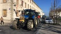 Des agriculteurs manifestent devant la préfecture