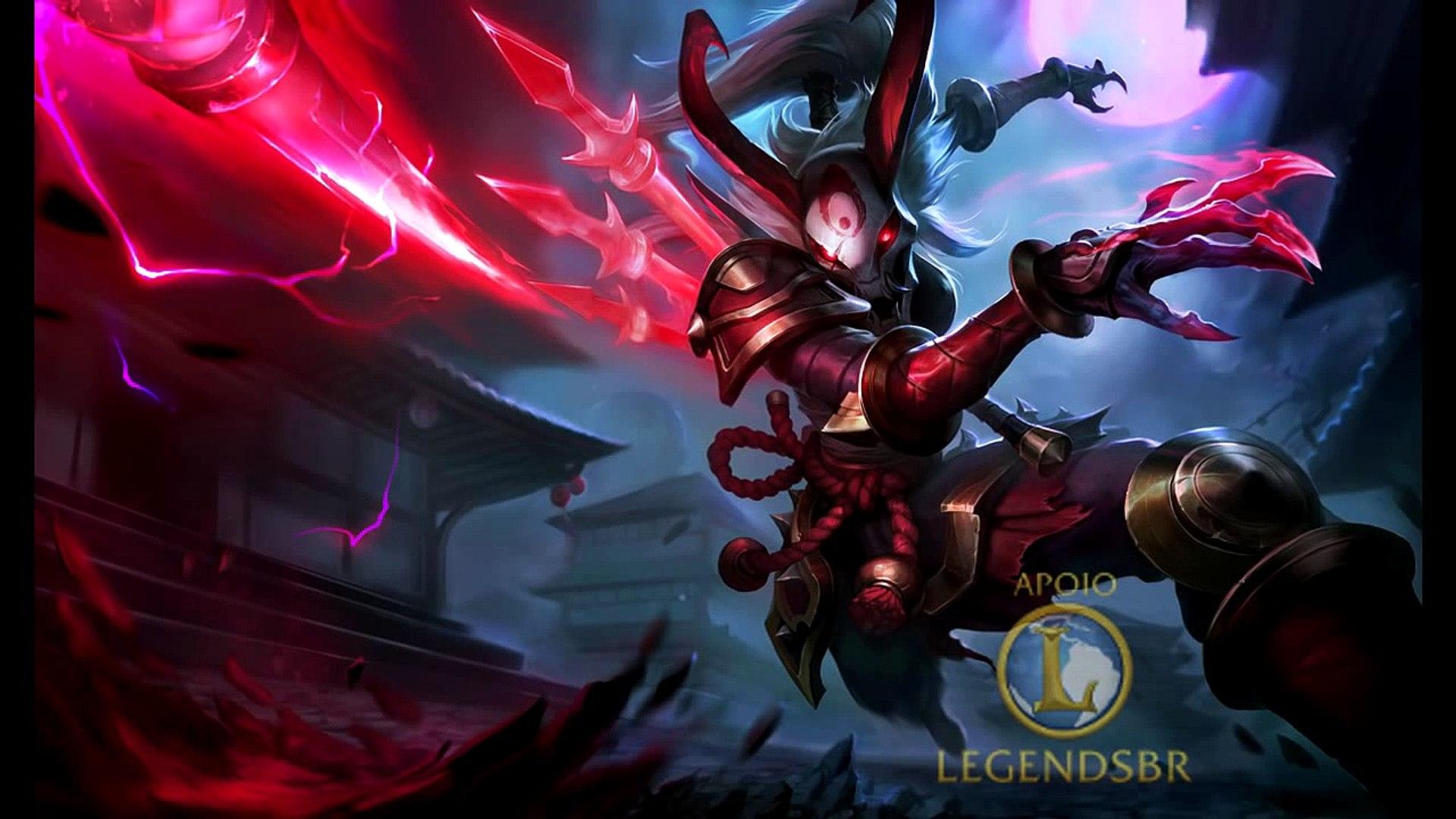 Kalista Lua Sangrenta Completo Br League Of Legends Video