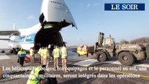 Départ des hélicoptères NH90 vers le Mali