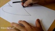 Como Desenhar Um Coração 3d Desenho Simples Passo A Passo