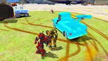 Transformers Stinger and Optimus Prime & Bumblebee Disney cars Yeti & Elvis Childrens Songs