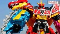 All DX Gattai Zyuden Sentai Kyoryuger new! DX 獣電戦隊キョウリュウジャー! Power Rangers Dino Charge Megazord!