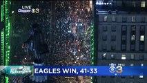 Des milliers de fans des Eagles envahissent Philadelphie suite à la victoire au Super Bowl 2018