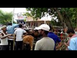 vaishali: villagers in anger for not getting flood relief material