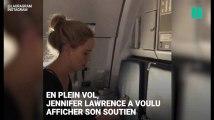 Pour le Super Bowl 2018, Jennifer Lawrence tente de mettre l'ambiance dans l'avion, et c'est raté