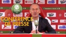 Conférence de presse Stade Brestois 29 - Stade de Reims (0-0) : Jean-Marc FURLAN (BREST) - David GUION (REIMS) - 2017/2018