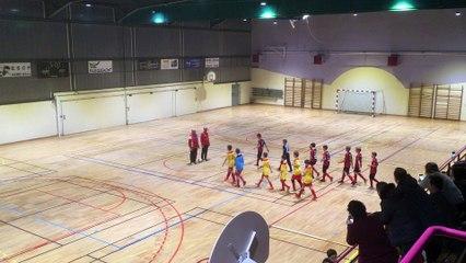 Premiere mi-temps de la final du tournoi U13 de Faulquemont