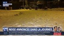 Dans les Yvelines, la neige commence déjà à tenir au sol