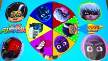 Learning Colors PJ Masks Spin the Wheel Game Find Paw Patrol Toys - Get Slimed and Spin the Wheel