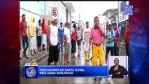 Pescadores de Santa Elena reclaman seguridad