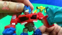 Rescue Bots Optimus Prime Bumblebee Blurr Battle Dr Morocco Play Skool Heroes Transformers Toy Story