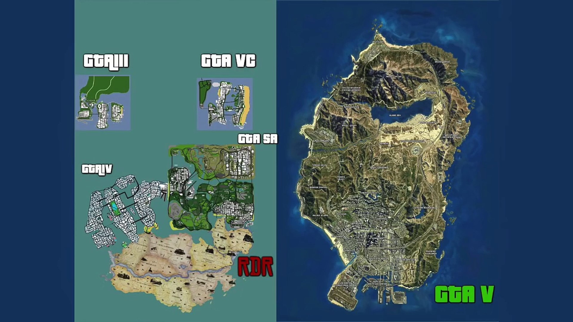Is The GTA 5 Map Too Small? - Ultimate Los Santos Map Comparison To Grand  Theft Auto Games & MORE!