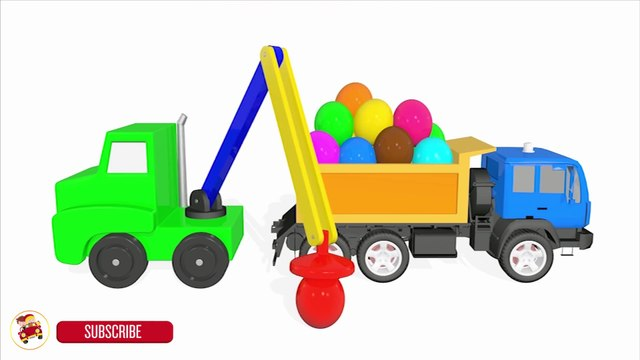Learn Colors With Balls Surprise Eggs Truck Cars Vehicles For Kids - Vegetables Fruits for Toddlers