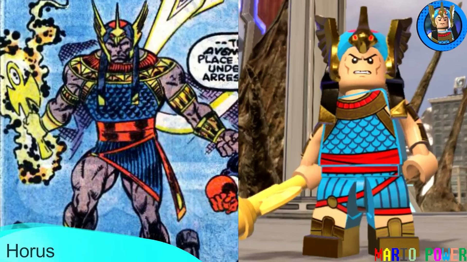Lego Marvel Superheroes 2 - ALL CHARACTERS Side by Side (Comics VS Lego)  Part 1 of 5