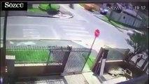 Feci motosiklet kazası kamerada