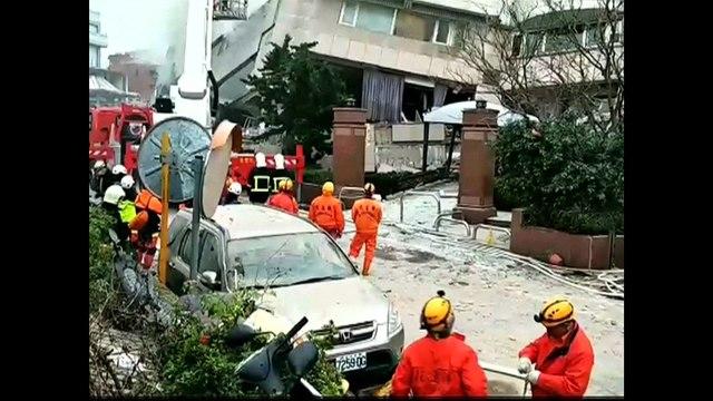 Imagens revelam rastro de destruição deixado por terremoto em Taiwan