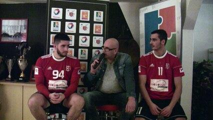 Interview d'après-match de Florian DESSERTENNE et de Diego MORENO