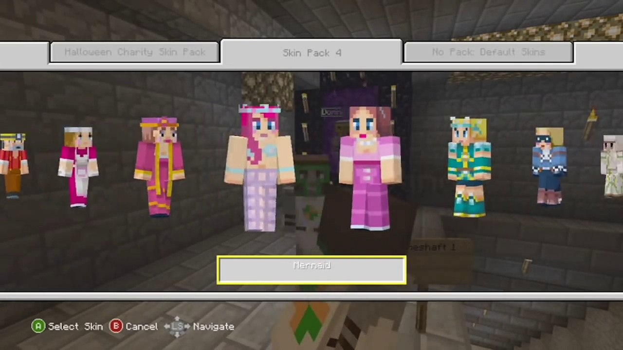 Minecraft (Xbox 11): CAPE ON EVERY SKIN IN CREATIVE MODE (How To
