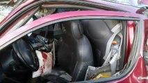 Tırın, park halindeki otomobile çarptığı trafik kazası - KOCAELİ