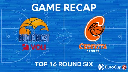 7Days EuroCup Highlights Top 16, Round 6: Buducnost 84-52 Cedevita