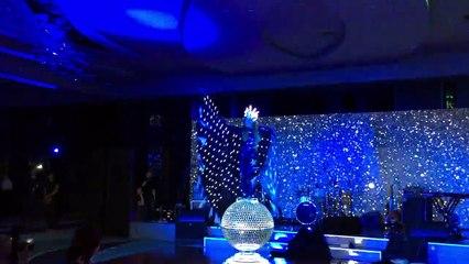 Star Light. Contortion Girl On A Mirror Ball