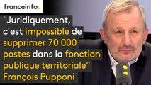 """""""Juridiquement, c'est impossible de supprimer 70 000 postes dans la fonction publique territoriale"""", affirme le député NG François Pupponi"""
