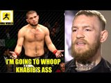 I've been calling out Khabib for years he knows I'll whoóp him,Conor McGregor responds to Floyd