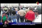Arequipeños se enfrentan a hinchas chilenos del Santiago Wanderes