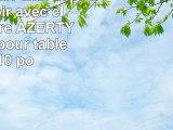 DURAGADGET Etui aspect cuir noir avec clavier intégré AZERTY français pour tablettes 10