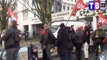 rassemblement devant le réctorat de Bordeaux les AVS ET EVS  sont en colère rencontre avec dominique Marchal