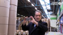 Vincent Lindon visite Ouest-France
