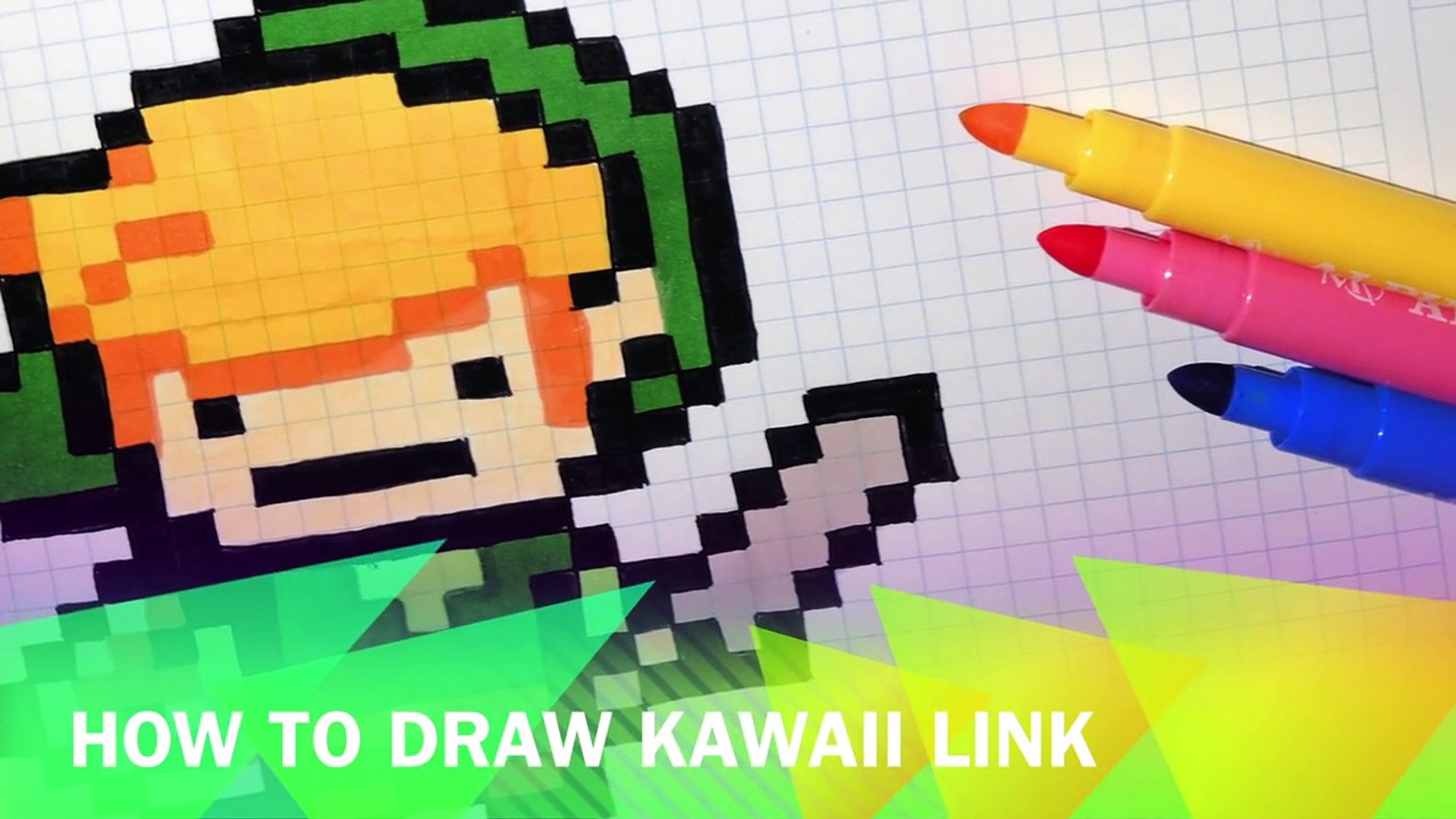Handmade Pixel Art How To Draw Kawaii Link The Legend Of Zelda Pixelart