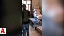 Mehmetçik PYD/YPG�nin silah deposu olarak kullandığı evi böyle ele geçir