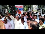 Protest against Azam Khan by BJP workers in Moradabad