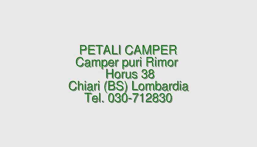 Camper puro Rimor Horus 38