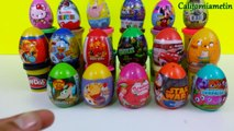 Surprise Eggs Kinder Surprise Marvel One Direction Cars Moshi Monsters SpongeBob Mickey Mouse