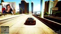 GTA 5 Funny Moments - Extreme Car City Jump (GTA V Online Stunts)