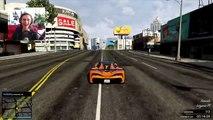 GTA 5 Funny Moments - Amazing Explosive Ramp Jump - (GTA V Online Stunts)
