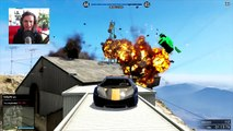 GTA 5 Funny Moments - Extreme Car Lake Jump - (GTA V Online Stunts)