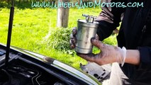 how to change fuel filter for audi a6 (c6 4f 2 0 tdi)