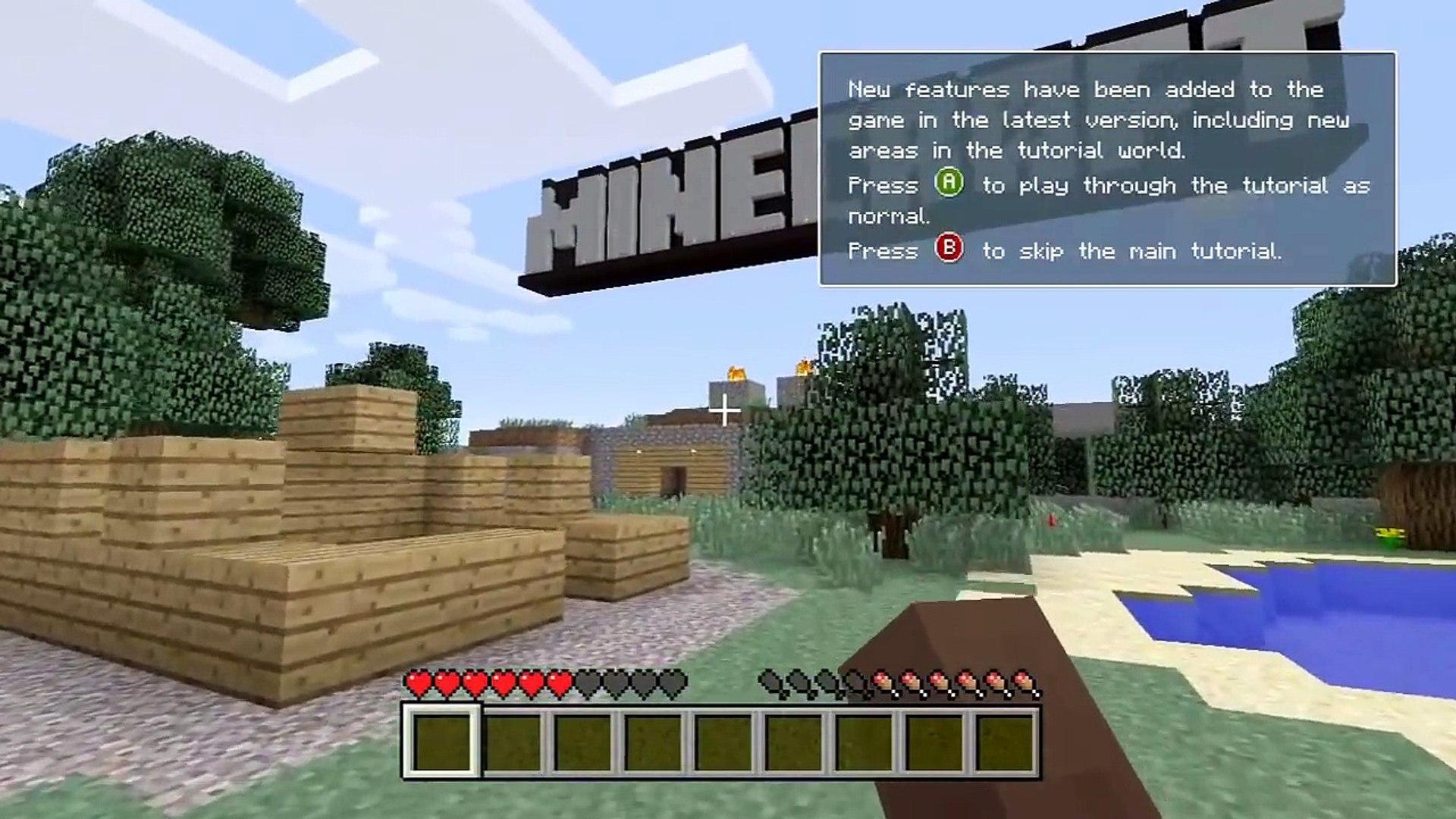 Minecraft (Xbox 360) - All 12 Hidden Chests - Tutorial World! - Walkthrough