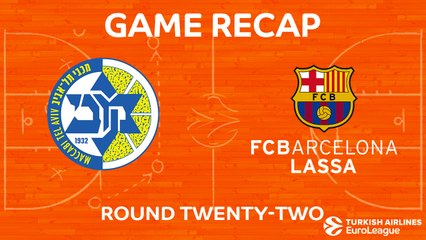 EuroLeague 2017-18 Highlights Regular Season Round 22 video: Maccabi 94-82 Barcelona