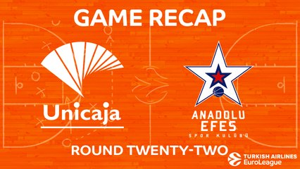 EuroLeague 2017-18 Highlights Regular Season Round 22 video: Unicaja 81-68 Efes