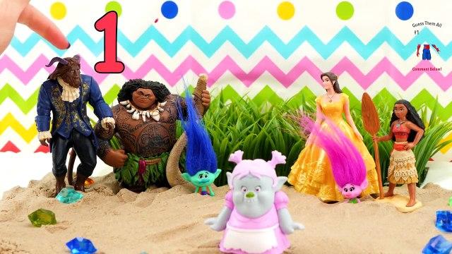 Moana, Trolls & Beauty and The Beast Movie Talent Competition! Belle Moana Poppy Maui Beast Bridget!