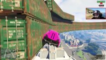 GTA 5 Funny Moments EXTREME WALLRIDE RACE | Crazy Difficult Custom Race Map | GTA V Funny Montage